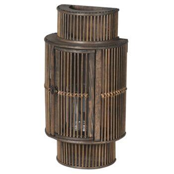 Бамбуков фенер за стена