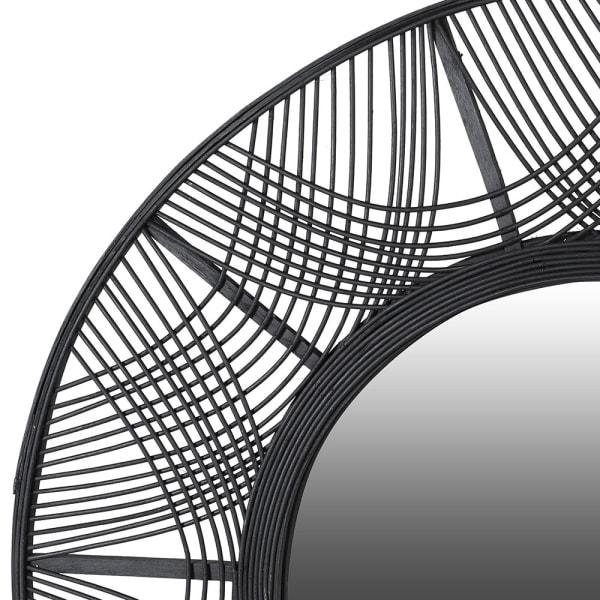 кръгло бамбуково огледало