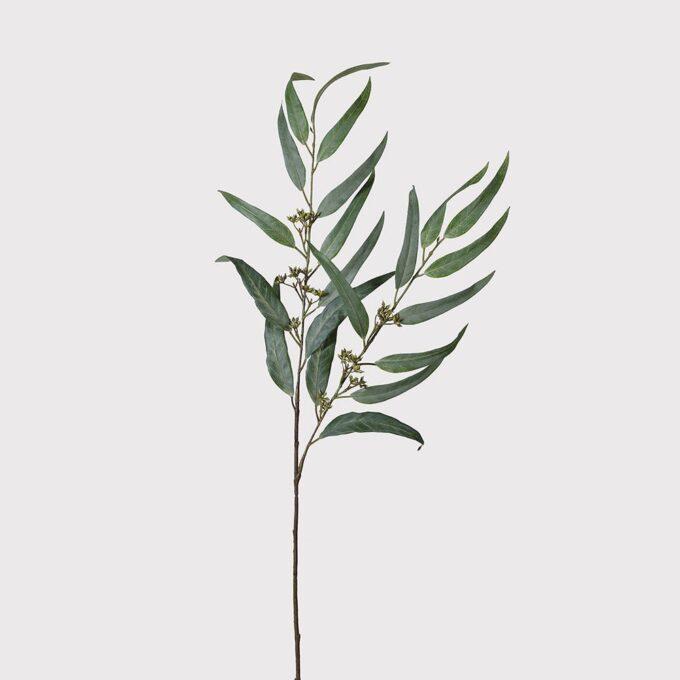 Изкуствено цвете клонка зелен евкалипт