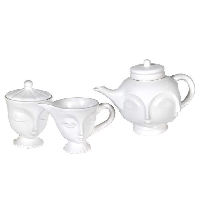 """Комплект за чай """"Лица"""""""