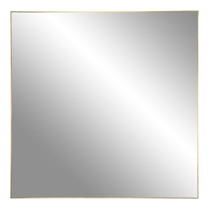 "Квадратно огледало ""Jersey"" със златиста рамка - 60 см."
