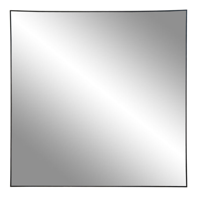 """Квадратно огледало """"Jersey"""" с черна рамка - 60 см."""