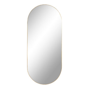 "Овално огледало ""Jersey"" със златиста рамка"