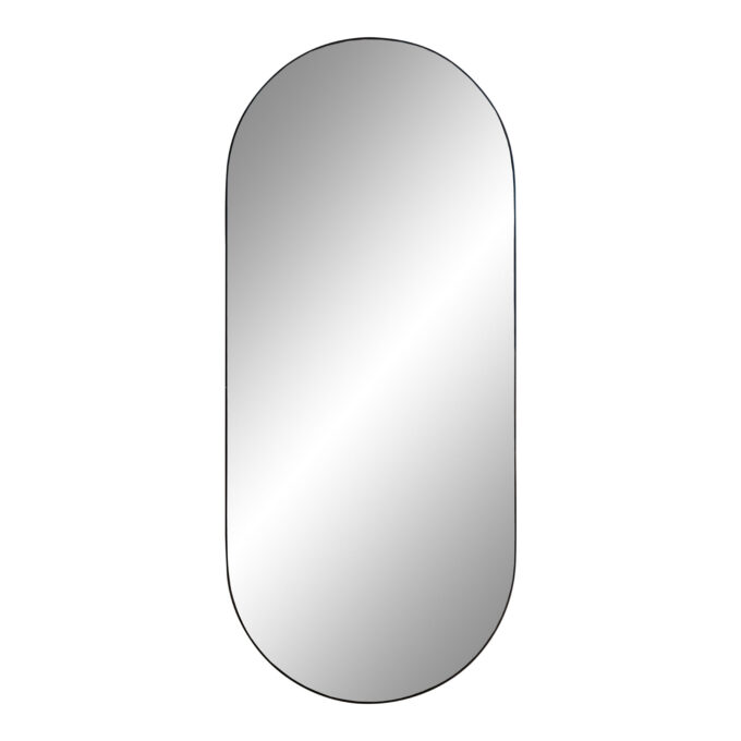 """Овално огледало """"Jersey"""" с черна рамка"""